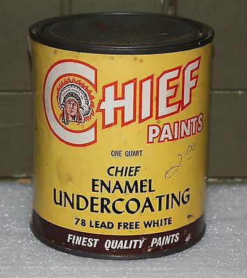 vintage Chicago Paints CHIEF paint metal can - Enamel Undercoating - one quart