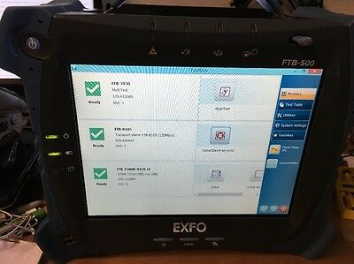 EXFO FTB-500, FTB-7300D SM OTDR & FTB-3930 Multitest Card