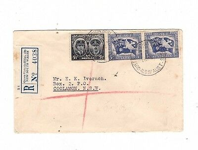 Australia 1952 Registered Cover to COOLAMON, cds Queen Vic Building NSW