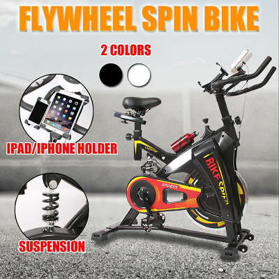 Flywheel Exercise Spin Bike LCD Display Fitness Home Gym Pulse Monitor Belt AU