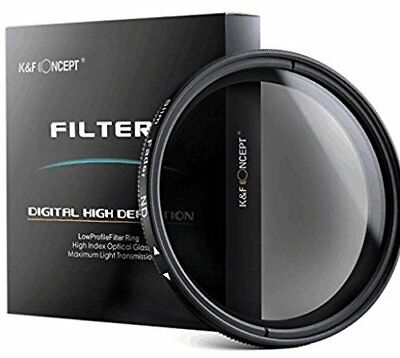 62mm Slim Variabler Fader ND Filter Graufilter ND2 ND400 Stufenlos Einstellbar