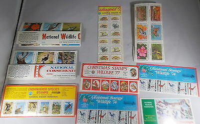 282 NATIONAL WILDLIFE FEDERATION STAMPS 1970s CONSERVATION ENDANGERED CHRISTMAS