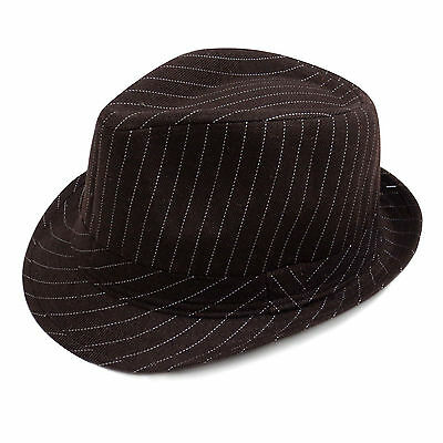 New Vintage Women's Men's Unisex Fedora Hat Stripe Print Classic Hat