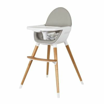 Childcare Pod Timber High Chair + Free Stay Put Suction Baby Feeding Bowl