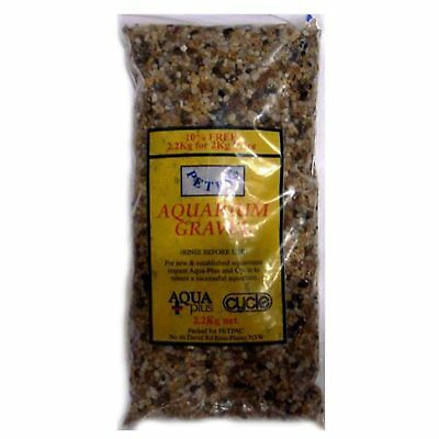 Marina Petpac Natural Aquarium Golden Gravel 2.2KG Fish Tank Substrate