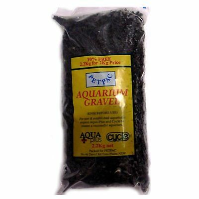 Marina Petpac Natural Aquarium Black Gravel 2.2KG Fish Tank Substrate