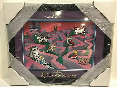 Disney Trading Pins Alice In Wonderland 65Th Annv Framed Set Le 200 With Cov
