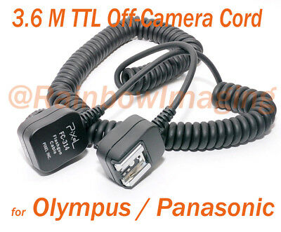 Pixel FC-314 3.6M TTL Off Camera Flashes Cable for Panasonic Olympus