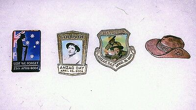 ANZAC Day 4 Badges - 2004 - 2006