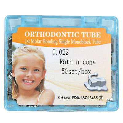 50 Sets/Box Dental Orthodontic 1st Molar Non-convertible Roth 0.22 Buccal Tube