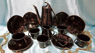 Vintage porcelain coffee set made in Poland 15/6 very beautiful
