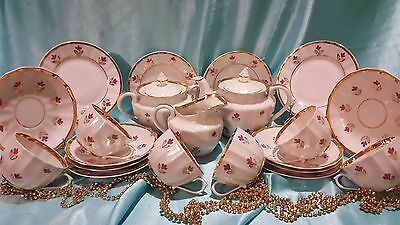 USSR bone china tea set Verbilky 21 pieces Russian Porcelain