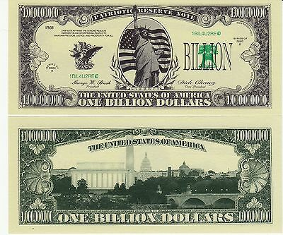 Novelty Notes / Fun Money - 1 BILLION DOLLARS / MISS LIBERTY   *neu*