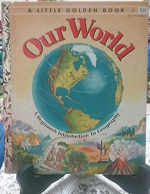 OUR WORLD Little Golden Book 1955 (VGC) First Edition New York