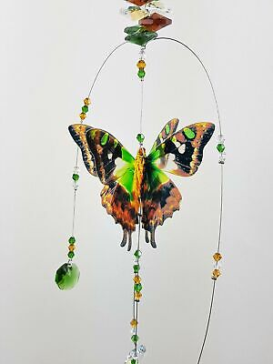 BUTTERFLY CRYSTAL SUNCATCHER GIFT window hanging decoration #5 rainbow prism