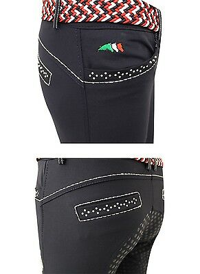 Equiline Electra girls breeches White 14/15