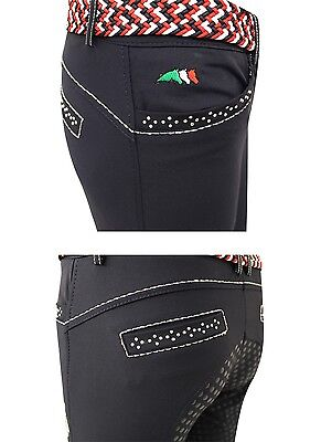 Equiline Electra girls breeches White 12/13