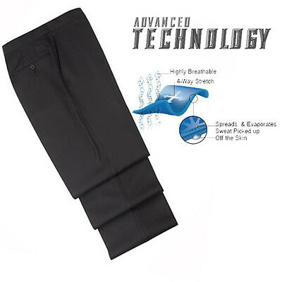 """NEW Basketball FLAT FRONT """"TAPERED"""" Referee Pants-4 way stretch! (Smitty BKS297)"""