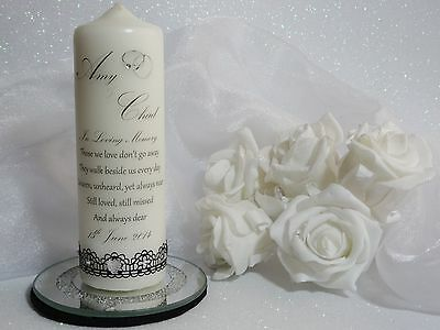~ Personalised Unity Candle ~ Keepsake Gift ~ WEDDING,ENGAGEMENT Memorial~ S4