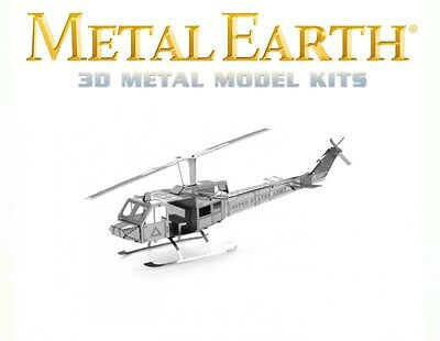 Fascinations Metal Earth Huey UH-1 Helicopter Laser Cut 3D Model
