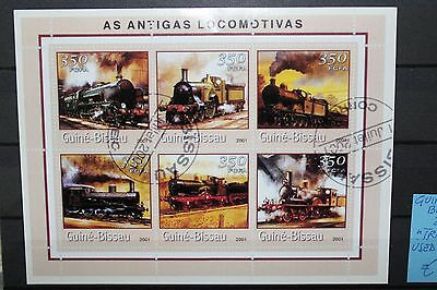 "Guinea Bissau 2001 ""trains"" Used Block (Cat.6)"