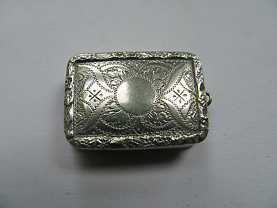 Nathaniel Mills Vinaigrette 1835 William IV Solid Silver