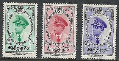 Morocco Scott 19 - 21 Mh Set - 1957 King Mohammed V Issue