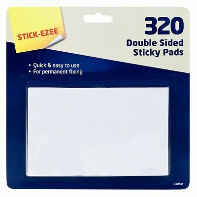 Double Side Sticky Pads 320 Foam Stick Pad Office Craft sided pads Home no glue