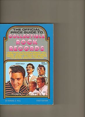 Official Price Guide To Collectible Rock Records-Randal Hill-1979 1St Ed Mint