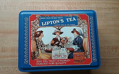 Vintage Lipton Tea limited edition tin honest tea is the best policy - HAS RUST