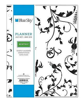 """Blue Sky 2017-2018 Academic Year Monthly Planner 8.5"""" x 11"""" Analeis"""