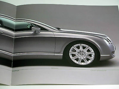 Original Bentley Continental GT Sales Brochure Catalog 2003