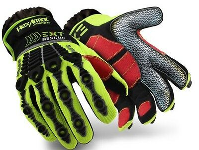 Hex Armor 4013 EXT Rescue Gloves Large Firefighting Extrication HexArmor