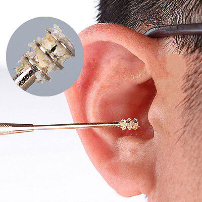 Ear Cleaner Tool Stainless Steel Double Ended Spiral Ear Pick Spoon