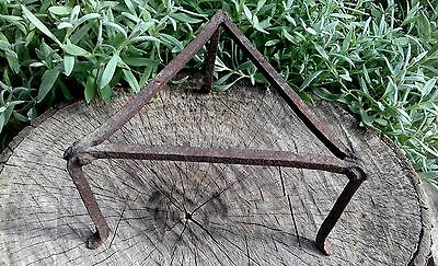 Antique Handforged Fireplace Iron Trivet Pot Stand 19 Century