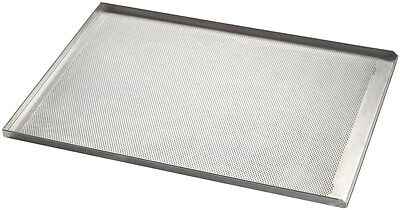 Commercial Aluminium 3 Sided Perforated Baking Sheet 600 x 400 x 20 mm