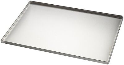 Commercial Aluminium 3 Sided Solid Baking Sheet 600 x 400 x 20 mm