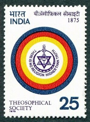 INDIA 1975 25p multicoloured SG794 MH FG Theosophical Society Centenary #W25