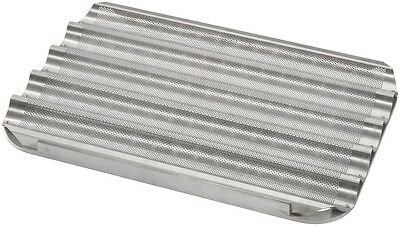 Aluminium Baguette French Stick Baking Tray 60 x 40 cm for 5 Baguettes
