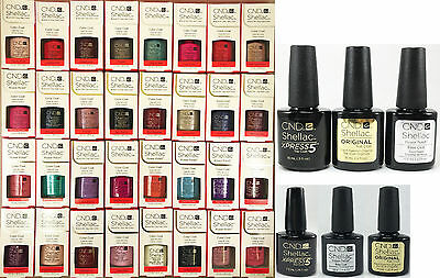 CND Shellac UV Gel Polish 7.5ml, Base Coat, Top Coat, Xpress 5 - Choose From ANY