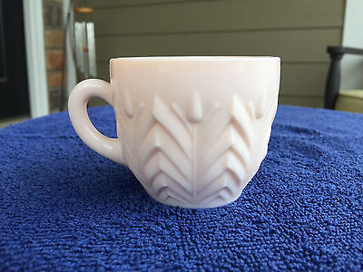 Jeanette Shell Pink Milk Glass Punch Cup or Mug