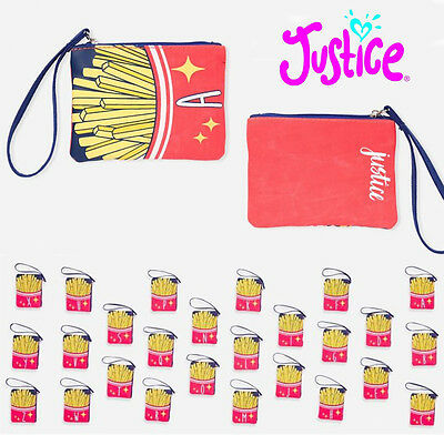 New Justice Initial Fries Wristlet Wallet NWT All Initials