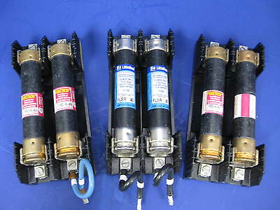 Buss R60060-2CR Fuse Block Holder w/ Time Delay Relays, 40A 600V, Lot of 3 Units