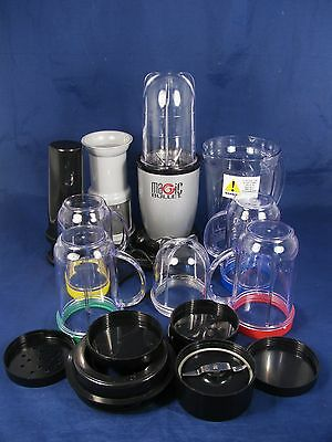 MAGIC BULLET Blender Pitcher Party Cups Cross Blades Lids Pusher Juice Extractor