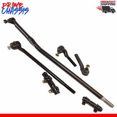 6 PC Steering Parts Ford F250 HD Center Link Tie Rod Ends  95-97 4WD Sleeves