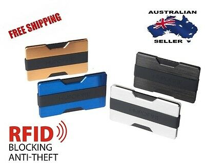 Aluminium RFID-Blocking Slim Wallet, Money Clip, ID & Credit Card Holder.