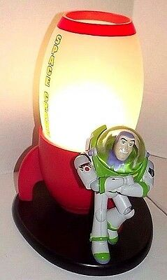 Toy Story Buzz Lightyear Space Crane Childs Bedroom Lamp