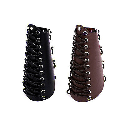 Traditional Leather Arrow Bow Shooting Gloves Archery Arm Guard Bracer Hunting