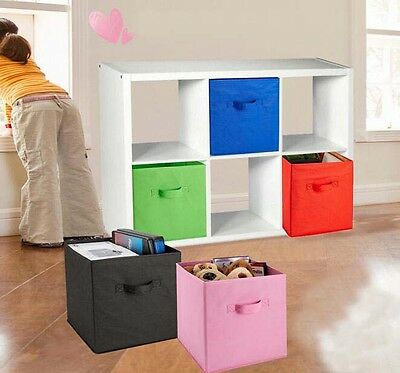 Storage Cube Fabric Clothes Foldable 1 Pcs Folding Box Books Organizer Home Room