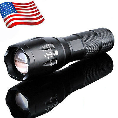 Hot 10000LM LED 18650 Flashlight Focus Torch Zoom Lamp Light Bright US